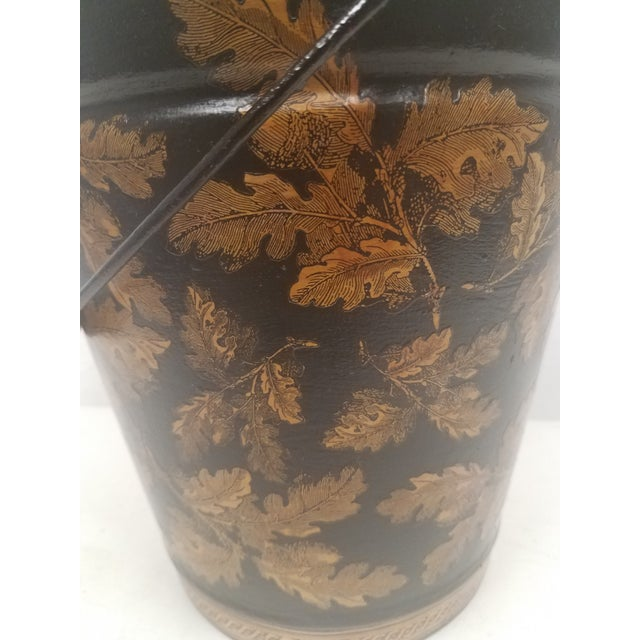 1900 - 1909 English Antique Bucket / Pail With Decoupage Leaves - Found in Southern England For Sale - Image 5 of 12