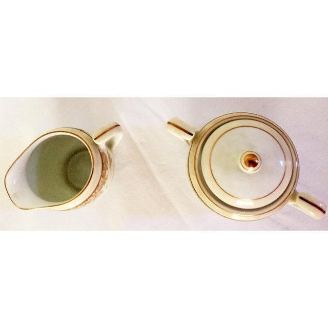 Noritake Noritake Sugar & Creamer With Tray - Set of 3 For Sale - Image 4 of 6