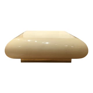 Faux Parchment Floating Coffee Table For Sale