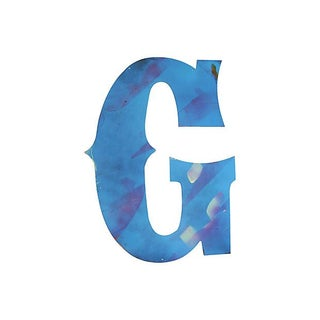 Large Blue Metal Marquee Letter G