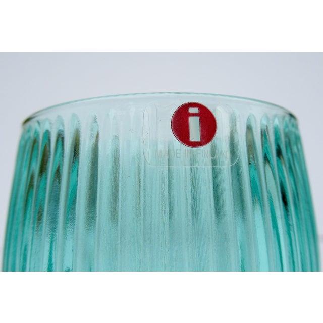 Vintage l'Ittala Crystal Round Fluted Mint Cordial Glasses - Set of 2 For Sale - Image 12 of 13