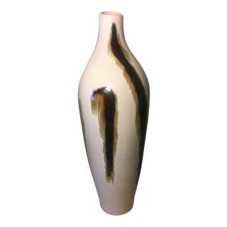 Vintage White Ceramic Vase For Sale