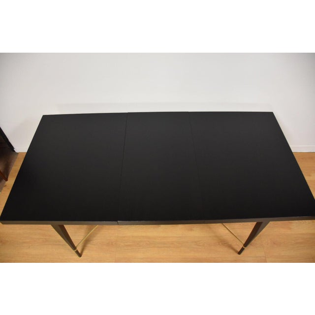 Black and Brass Dining Table by Paul McCobb - Image 4 of 10