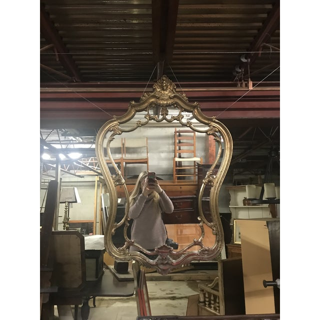 Mid 20th Century Vintage Gilt Frame Wall Mirror For Sale - Image 5 of 5