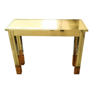 Sarreid All Solid Brass Narrow Console Hollywood Regency Table For Sale
