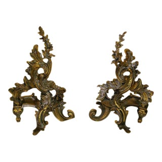 19th Century Art Nouveau Bronze Fireplace Andirons - a Pair For Sale