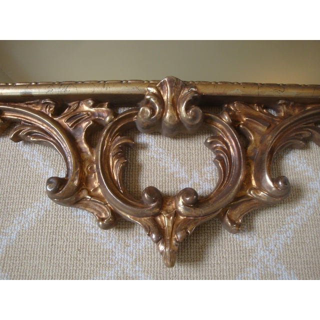 Carvers' Guild Large Gold Chippendale Rococo Mirror For Sale - Image 4 of 7