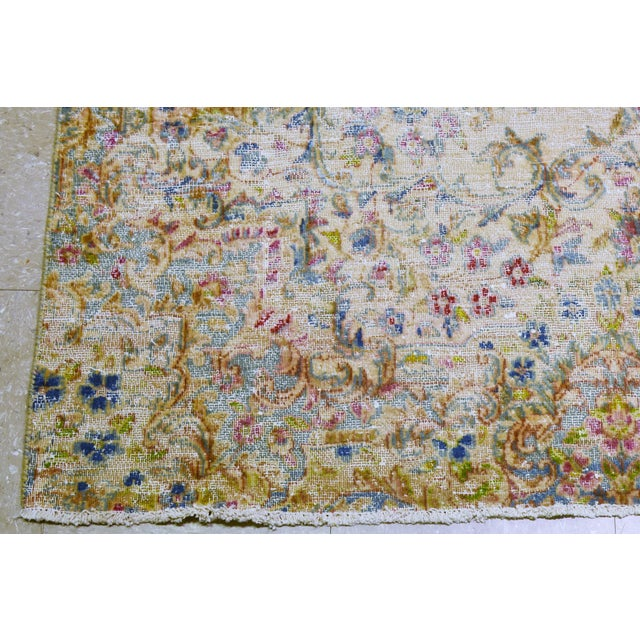 """Vintage Persian Kerman Hand Knotted Organic Wool Fine Weave Rug,7'8""""x14'1"""" For Sale In New York - Image 6 of 8"""