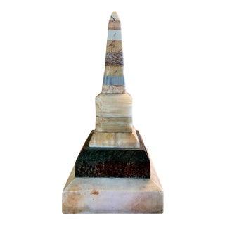 19th Century Grand Tour Specimen Marble Obelisk For Sale