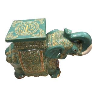 Ceramic Elephant Garden Stool For Sale