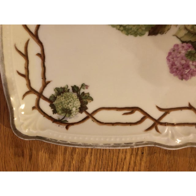 Mid 20th Century Vintage German Hand Painted China Platter For Sale - Image 4 of 7