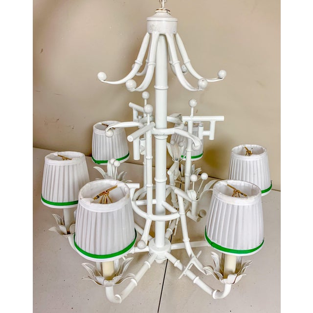 Chinese Chippendale Style Chandelier - 6 Arm For Sale In Atlanta - Image 6 of 6