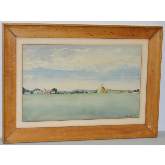 Impressionist Midwest Farm Landscape C.1939 - Image 2 of 7