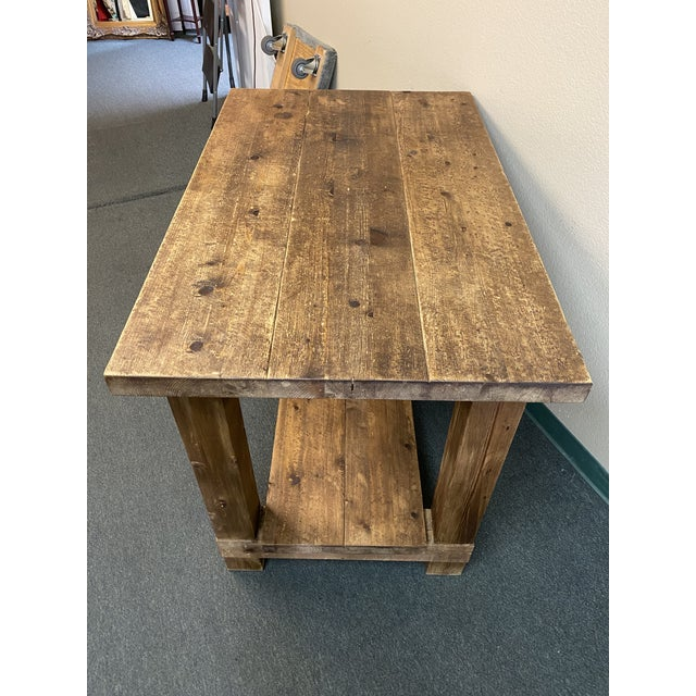 Restoration Hardware Salvaged Wood Island For Sale In San Francisco - Image 6 of 13