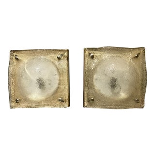 Pair of Murano Sconces, C. 1980 For Sale