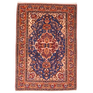 """1930s Vintage Isfahan Persian Rug-4'9"""" X 6'10"""" For Sale"""
