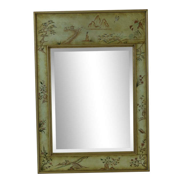 Labarge 8192-28 Eglomise Chinoiserie Mirror For Sale - Image 9 of 9
