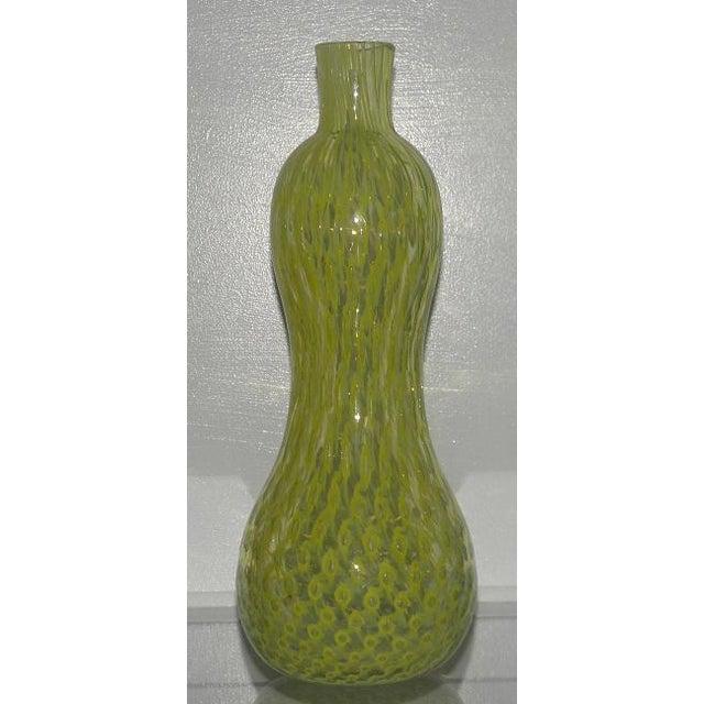 Rare Vintage Murano Italian Art Glass Bottle Vase By Fratelli Toso