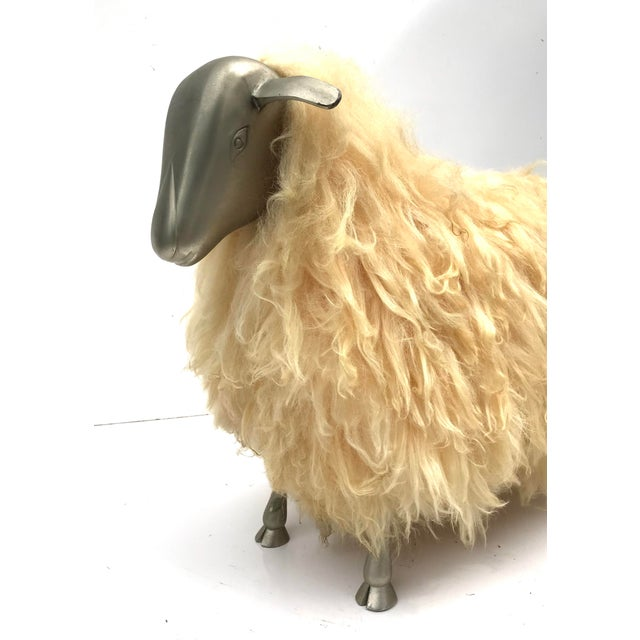 1970s 1970's Lalanne Style Sheep Ottoman Stool For Sale - Image 5 of 11