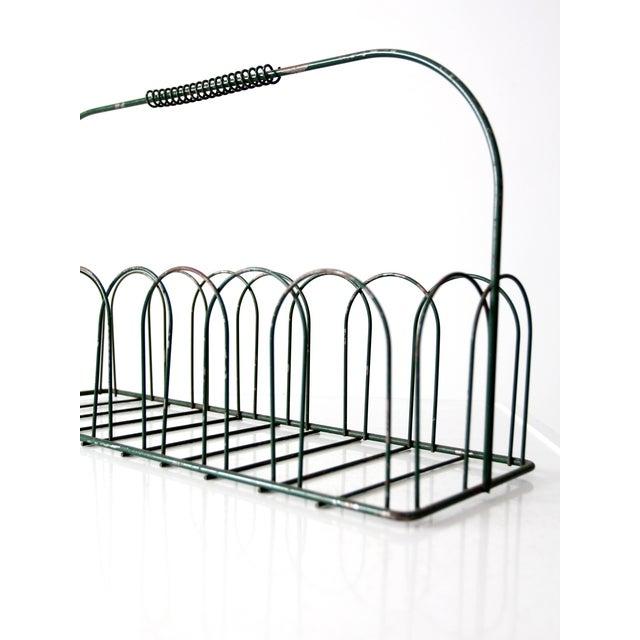 Vintage Wire Metal Handled Basket For Sale - Image 4 of 8
