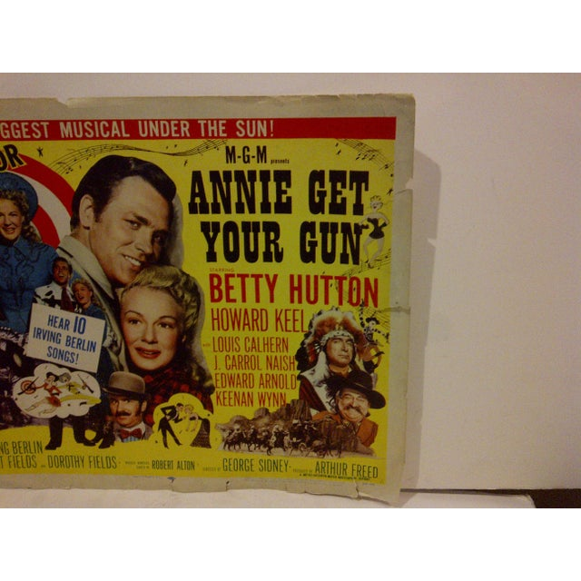 "Vintage Movie Poster ""Annie Get Your Gun"" Betty Hutton - 1950 For Sale - Image 4 of 5"