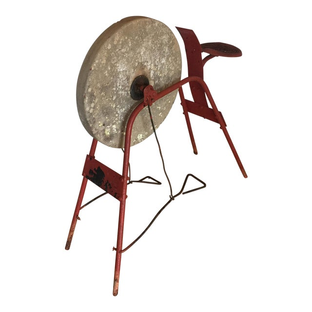 Red Blacksmith Pedal Grinding Wheel For Sale