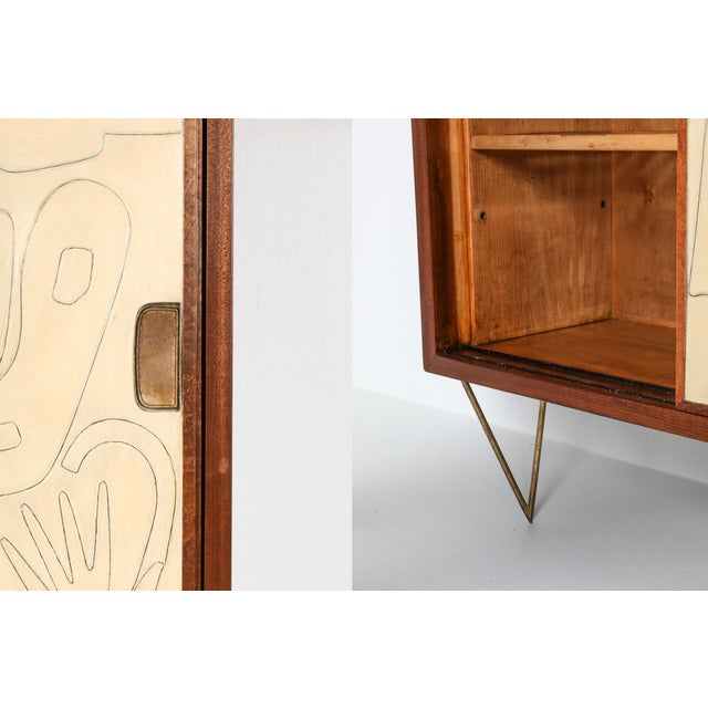 Victor Cerrato One-Of-A-Kind Case Piece - 1950's For Sale - Image 6 of 8