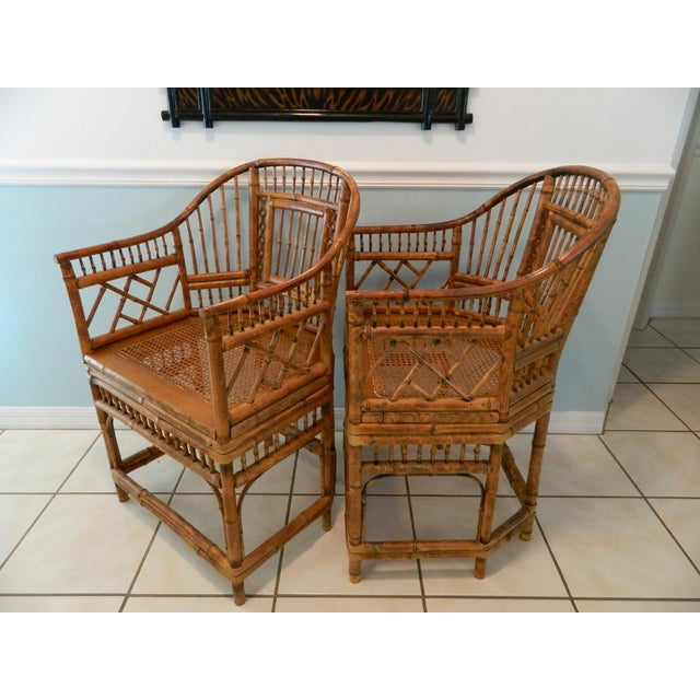 Gorgeous vintage bamboo chairs in excellent condition with normal wear and tear due to their age. There are no breaks and...