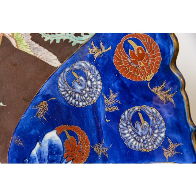 C. 1850 Blue and Brown Floral Imari Charger For Sale In West Palm - Image 6 of 9