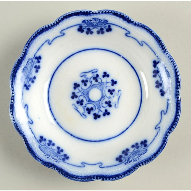 Antique Grindley Lorne (Flow Blue) Small Bowl - Set of 8 For Sale In Greensboro - Image 6 of 8