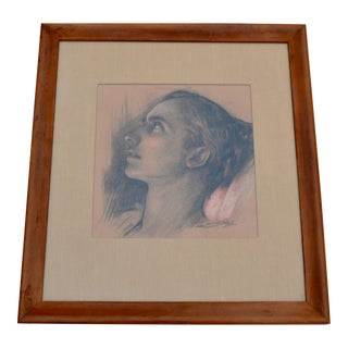 Portrait Drawing by Axel Linius- 1928 For Sale