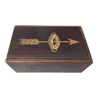 Antique Hand Painted Ship's Box