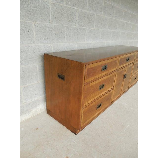 "John Stuart Campaign Style Credenza / Dresser 28.5""H x 76""W - Image 4 of 11"