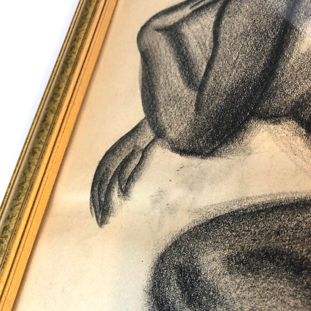 Mid-Century Gallery Wall Collection Nude Figure Drawings and Paintings - Set of 4 For Sale - Image 9 of 12