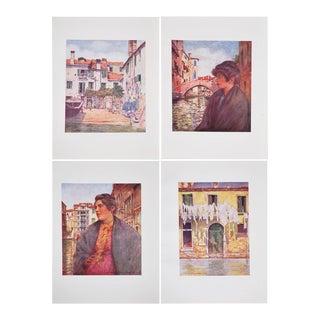 Original Antique Lithographs of Venice - Set of 4
