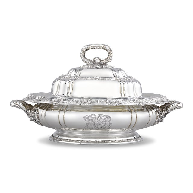 Tiffany and Co. Tiffany & Co. Chrysanthemum Silver Entree Dish For Sale - Image 4 of 4