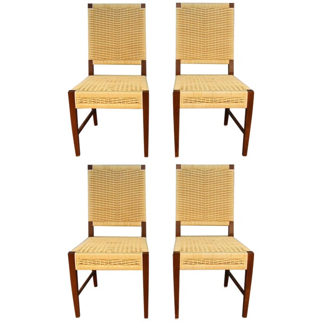 Donghia Dining Chairs with Merbau Wood - Set of 4 - Image 1 of 9