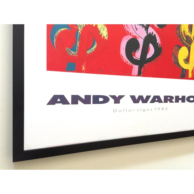 """Andy Warhol Estate Rare Vintage 1989 1st Edition Lithograph Print Large Framed Pop Art Poster """" Dollar Signs """" 1982 For Sale In Kansas City - Image 6 of 13"""