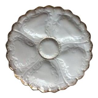 Antique Paris Porcelain Oyster Plate