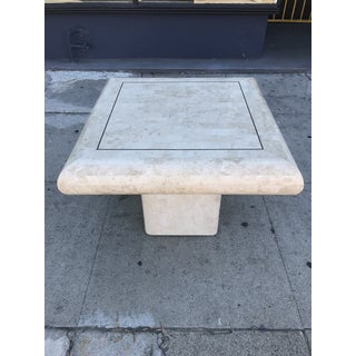 1980s Art Deco Maitland-Smith Tessellated Stone Side Table Preview