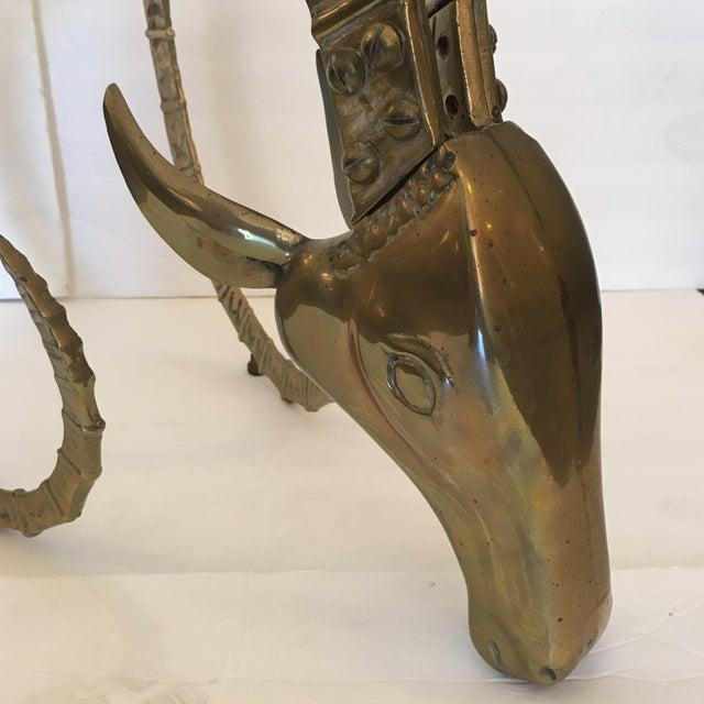 Metal Vintage Brass Ibex Sculpture For Sale - Image 7 of 10
