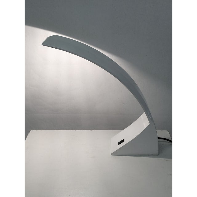 1970s White Lacquer Desk Lamp For Sale - Image 5 of 6