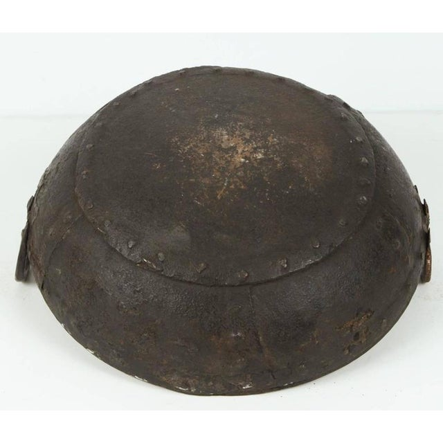 Large Iron Outdoor Pot Southern India For Sale - Image 4 of 5