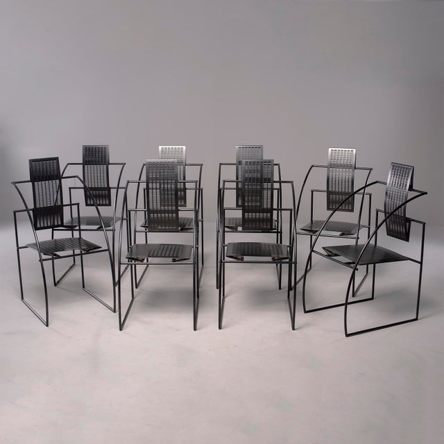 Alias Italian Botta Quinta Op Art Dining Chairs - Set of 8 For Sale - Image 13 of 13