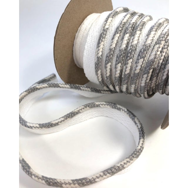 """Braided 1/4"""" Indoor/Outdoor White/Gray Cord For Sale In New York - Image 6 of 10"""