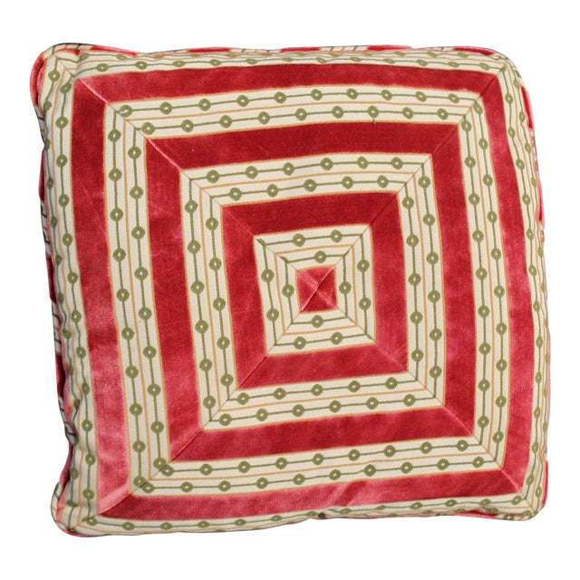 Mid C. Down Filled Possibly Silk Velvet, Unique Pillow For Sale