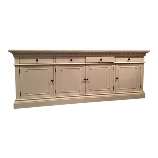 St. James White Panel Media Console
