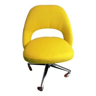 Eero Saarinen Yellow Executive Armless Chair For Sale