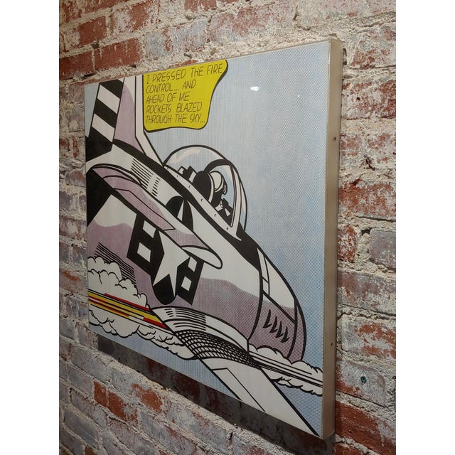 Roy Lichtenstein -Whaam ! - Vintage Lithographs - A Pair For Sale - Image 9 of 12