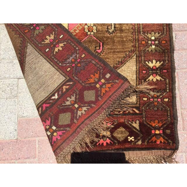 Textile Vintage Hand Knotted Anatolian Rug For Sale - Image 7 of 7